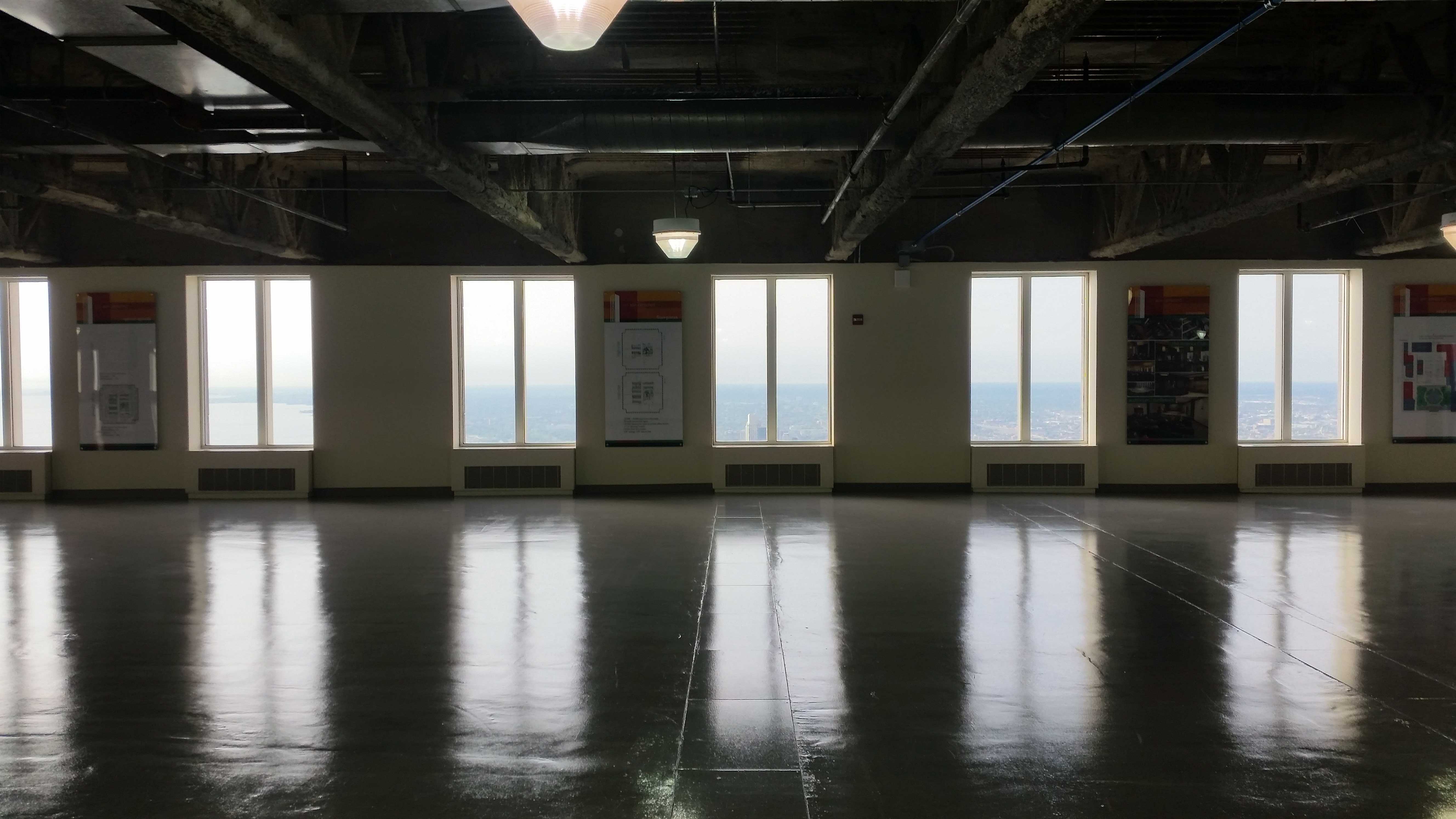 The 71st floor of the Aon Building is still a raw space, and not rented out, which is why it's been an Open House Chicago staple. (Garrett Karp/Courtesy of Open House Chicago)