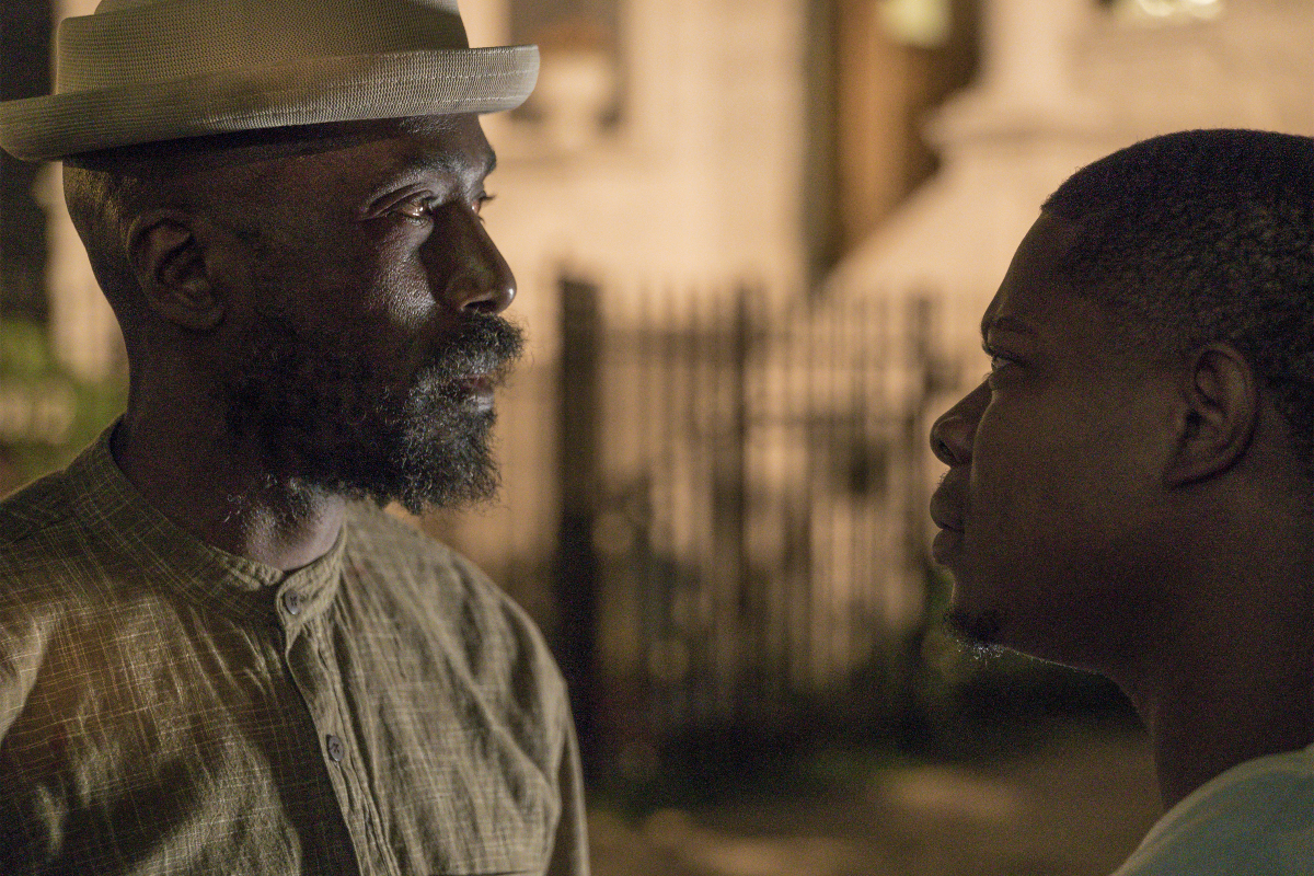 Ntare Guma Mbaho Mwine as Ronnie and Jason Mitchell as Brandon. (Matt Dinerstein/SHOWTIME)