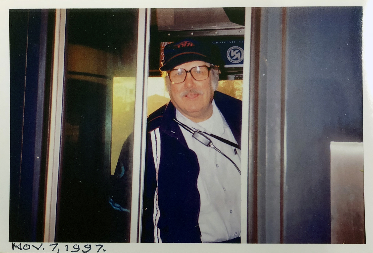 Walter Collins ready to depart from the 95th St. terminal for Howard St. in 1997. (Courtesy Walter Collins)