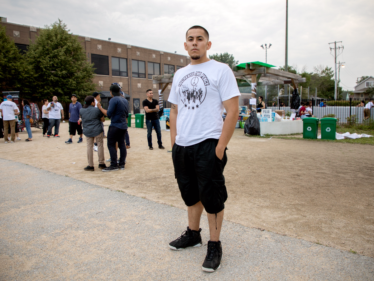 Aguayo, 22, is the lead organizer with 'The Resurrection Project.' He lives and works in Back of the Yards.