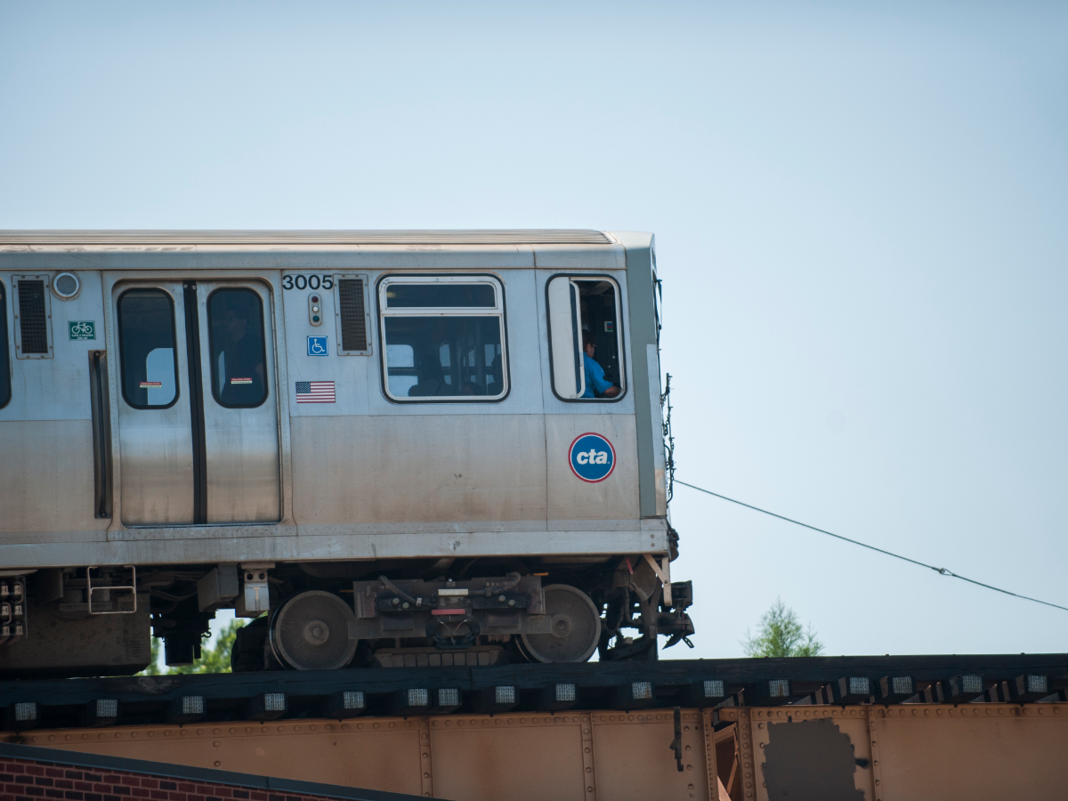 The Blue Line is currently the fastest train from Downtown to O'Hare. (Bill Healy/WBEZ)