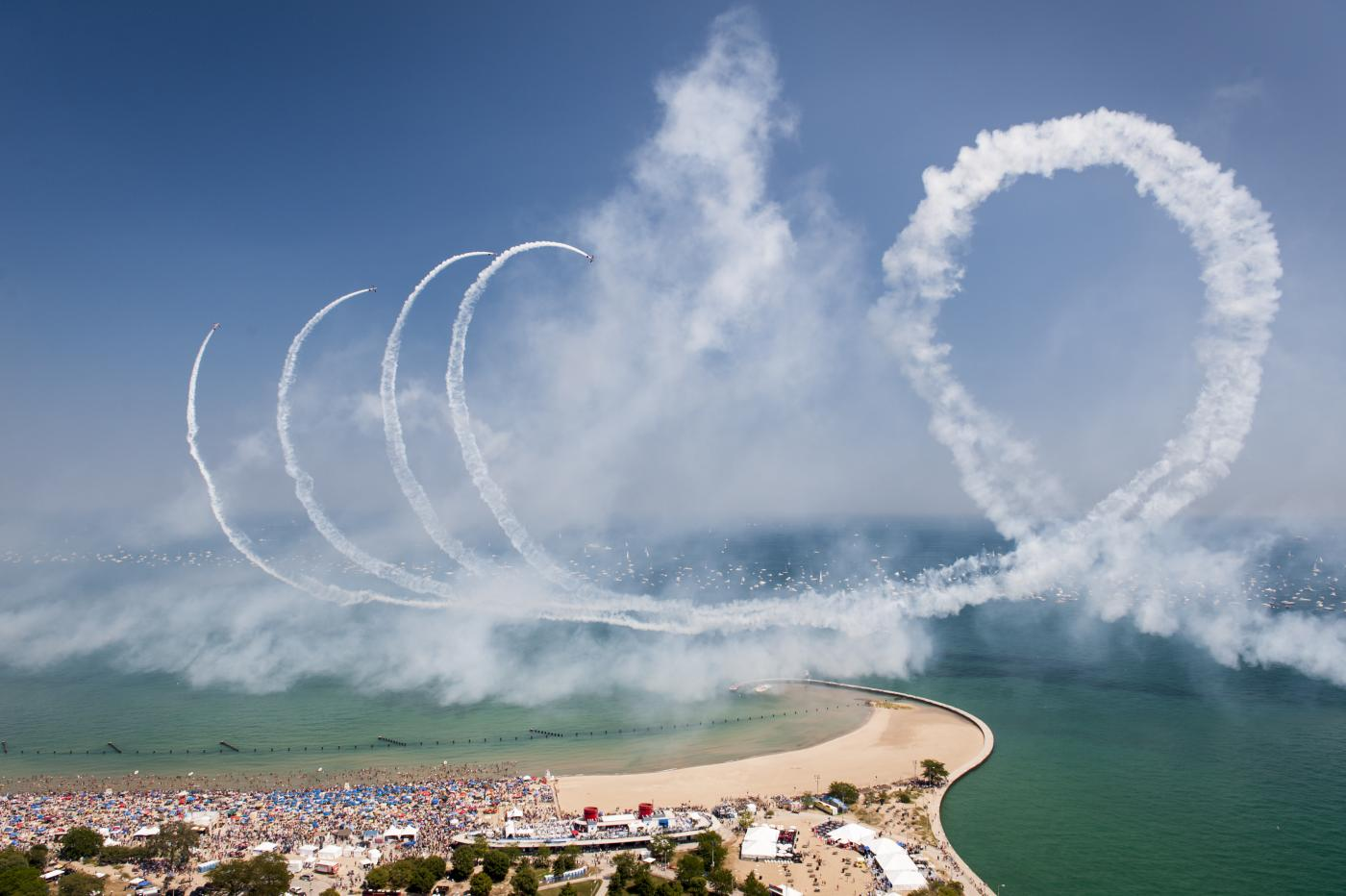 The Department of Cultural Affairs and Special Events says the Air and Water Show contributes an approximated $78 million in total business activity to the Chicago economy. However, Curious Citizen Leah says she doesn't believe the environmental price is worth it. (Courtesy City of Chicago)