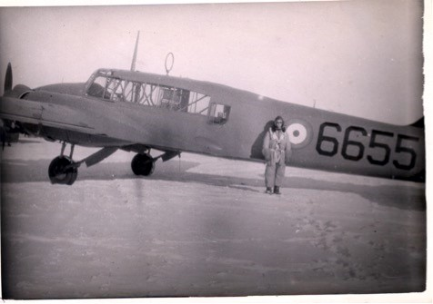 Aviator Fred Hutcherson in front of the Canada Dorvale in 1940. Photo courtesy of Shorefront Legacy/Obsidian Collection.