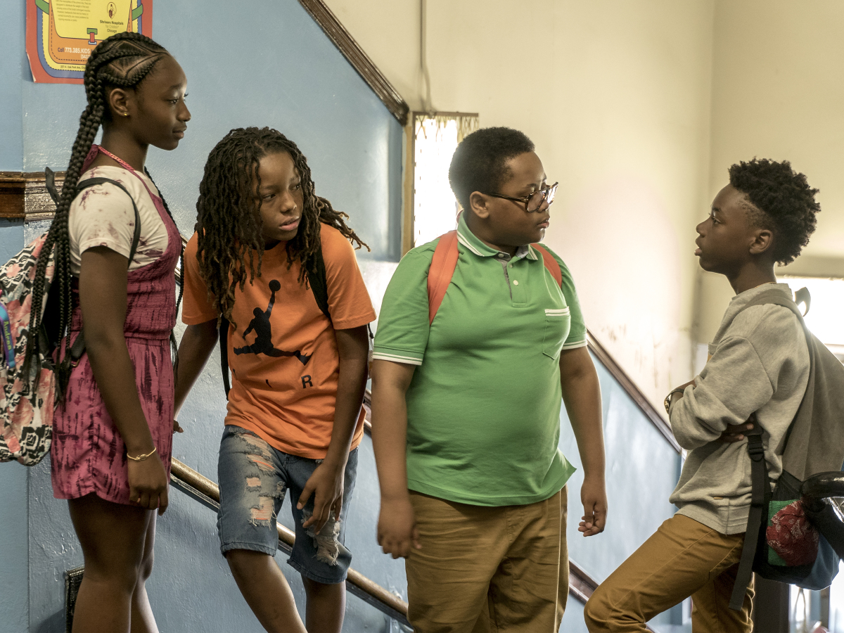 Mariah Gordon as Andrea, Michael Epps as Jake, Shamon Brown as Papa and Alex Hibbert as Kevin. (Matt Dinerstein/SHOWTIME)