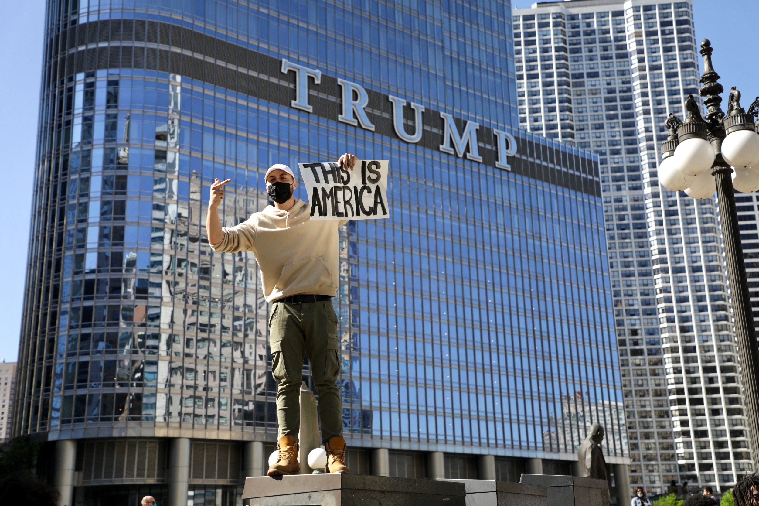 Trump Tower protestor