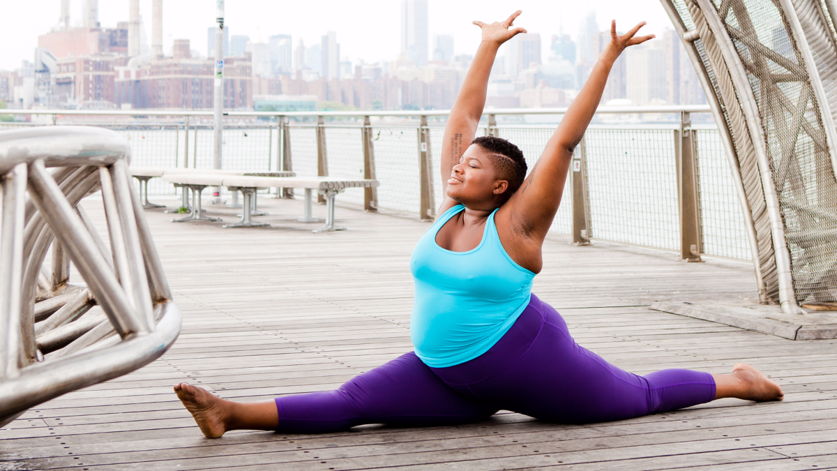 Jessamyn Stanley, a yoga instructor and author of 'Every Body Yoga,' argues 'all yoga bodies deserve to be represented in print, not just those who are slender, female and white. (Photo by Christine Hewitt/Courtesy of Jessamyn Stanley)