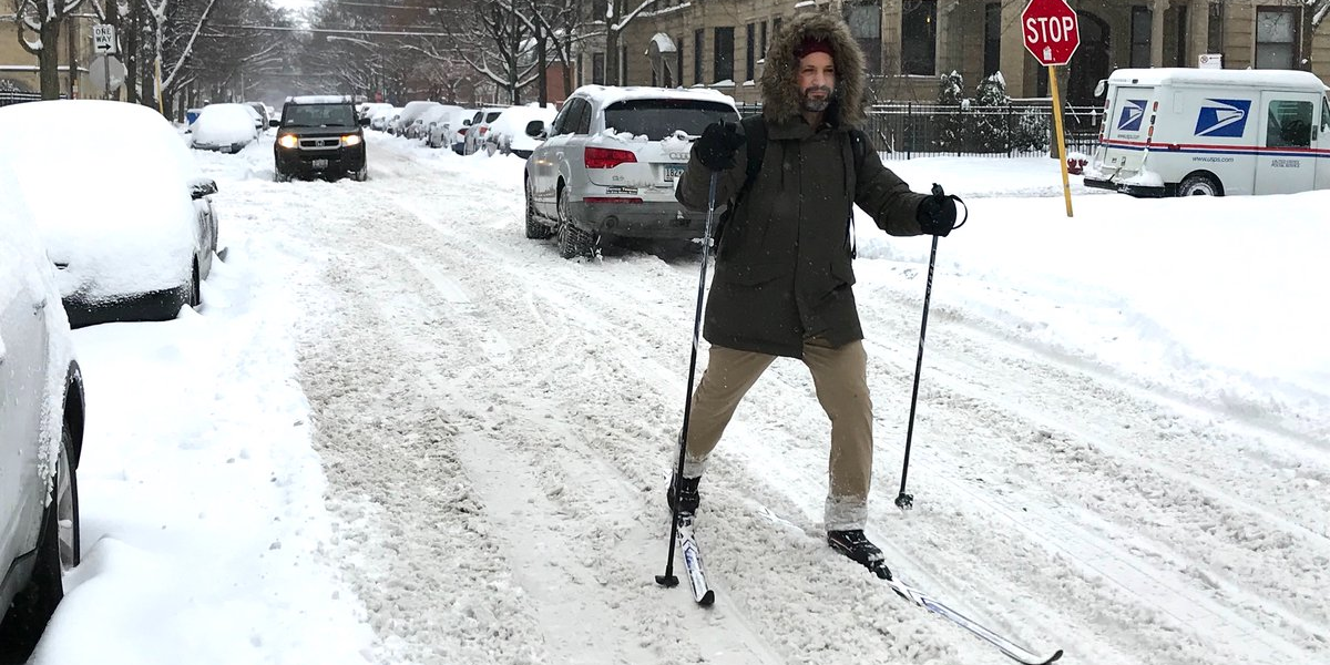 'Fun work commute today,' wrote reporter Chicago John Greenfield on Twitter.  (via  Twitter)