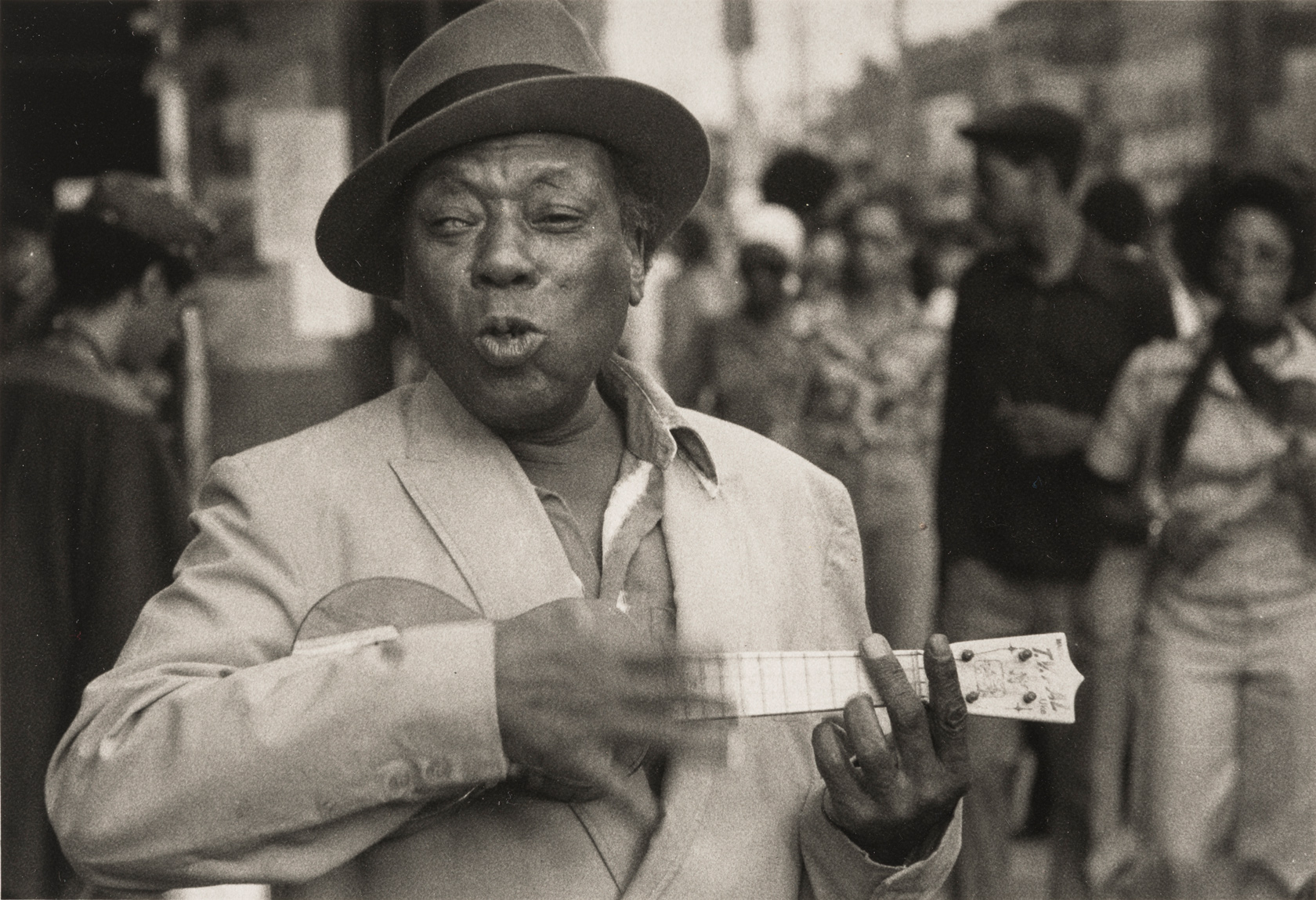 Dawoud Bey, 'A Man with a Ukelele,' Harlem USA, Courtesy of Dawoud Bey