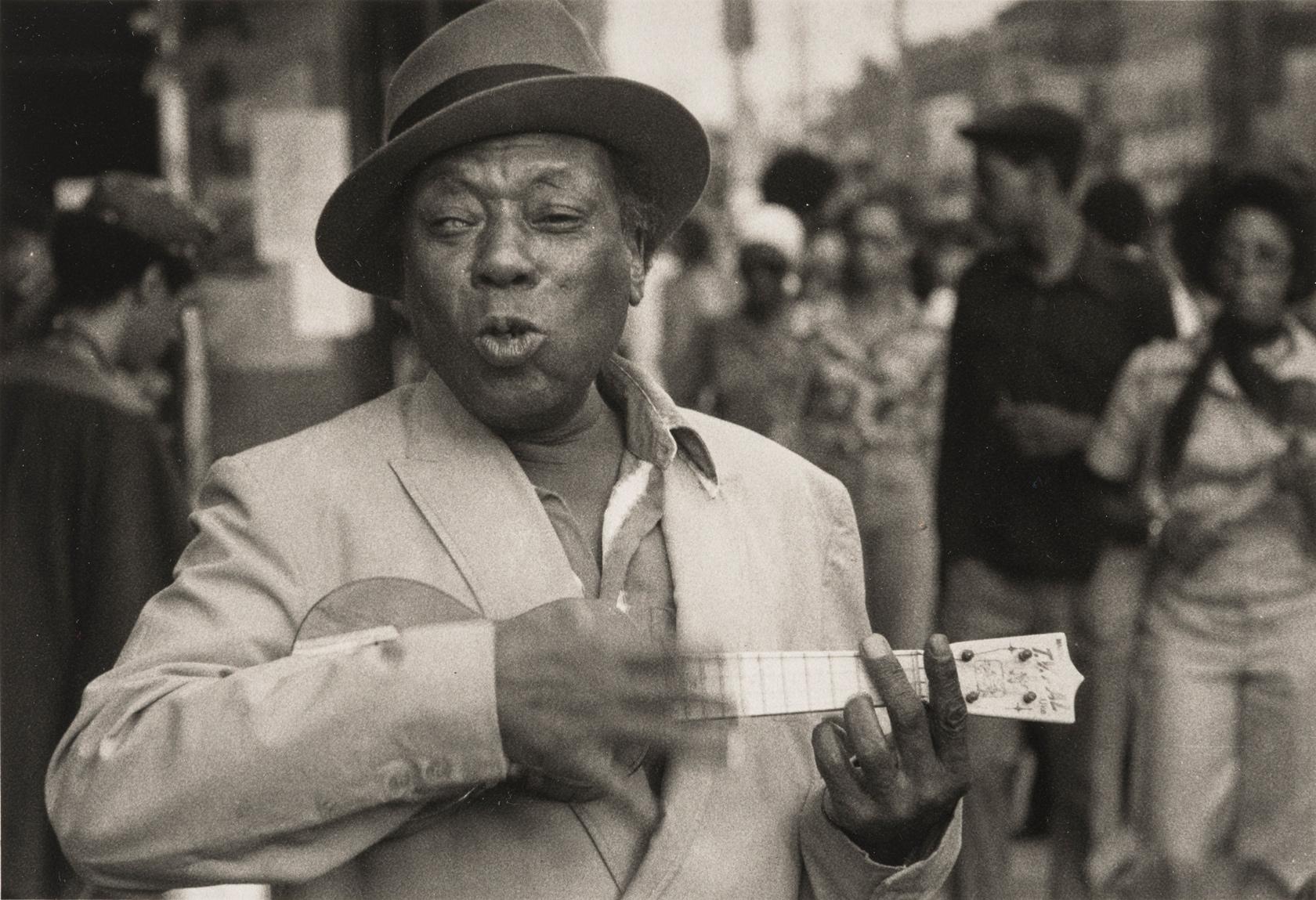 Dawoud Bey, 'A Man with a Ukelele,' Harlem USA, Courtesy of Dawoud Bey