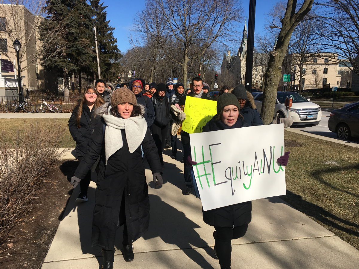 Protesting Northwestern students say academic freedom shouldn't protect a controversial visiting scholar.