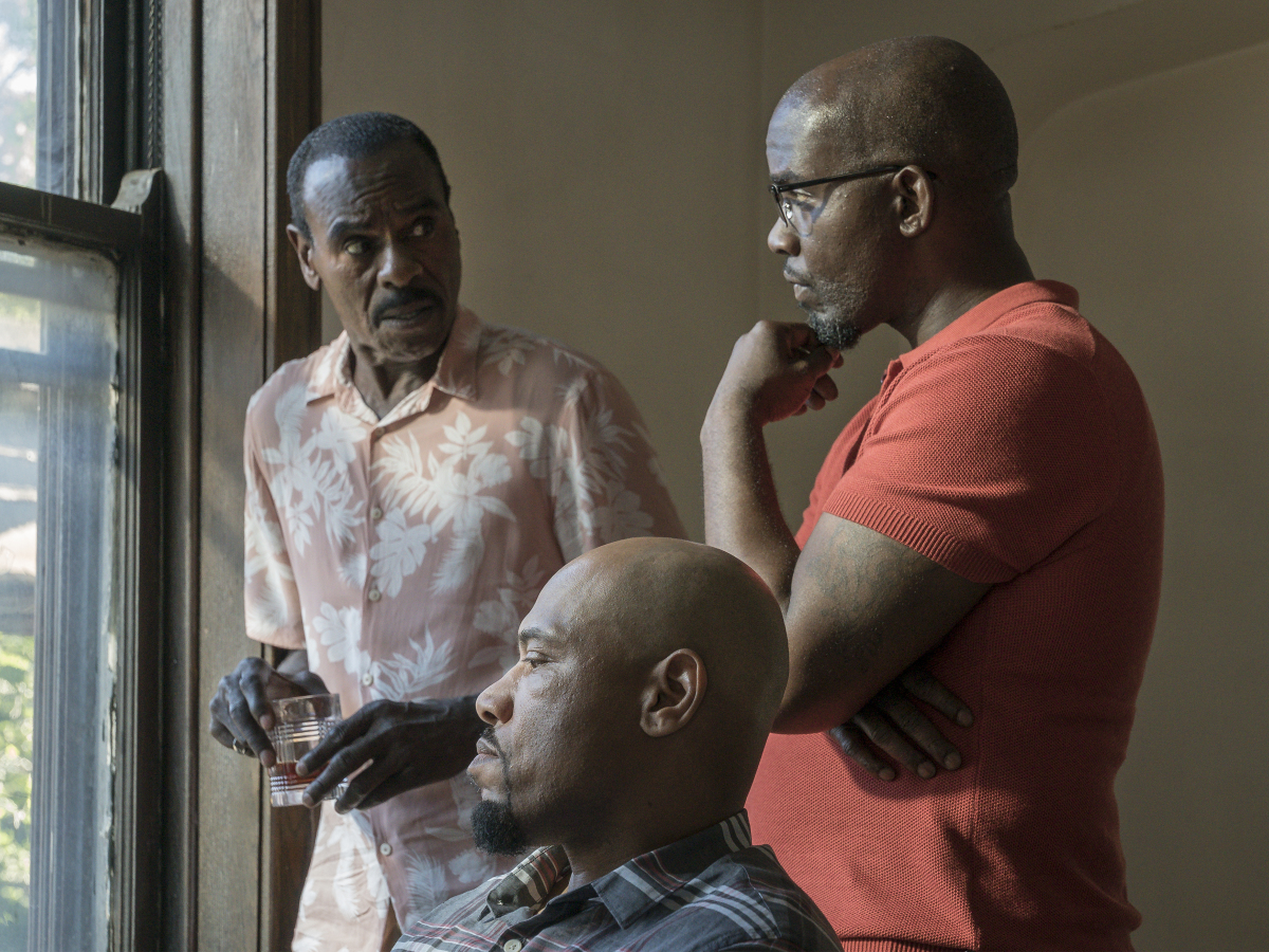 Steven Williams as Quentin, Ronald Conner as Tep, and Curtis Toler a JB. (Matt Dinerstein/SHOWTIME)
