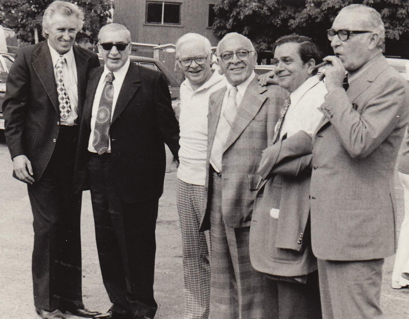 Alderman Roti (second from right) and political pals met for a golf outing in 1980. (Courtesy Denny Johnson)