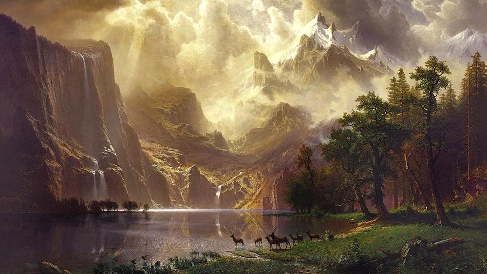 Albert Bierstadt's 1868 painting,