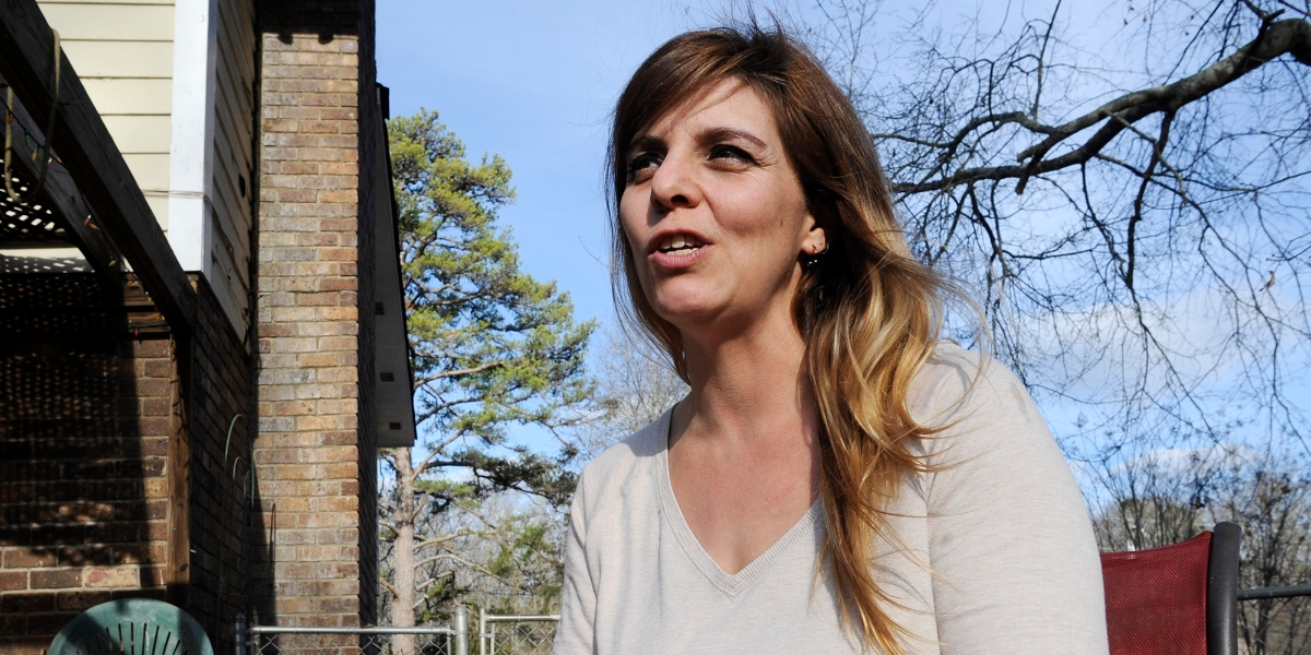 Former skinhead Shannon Martinez talks about her time as a white supremacist during a Jan. 11, 2017 interview at her home in Athens, Ga. (Jay Reeves/Associated Press)