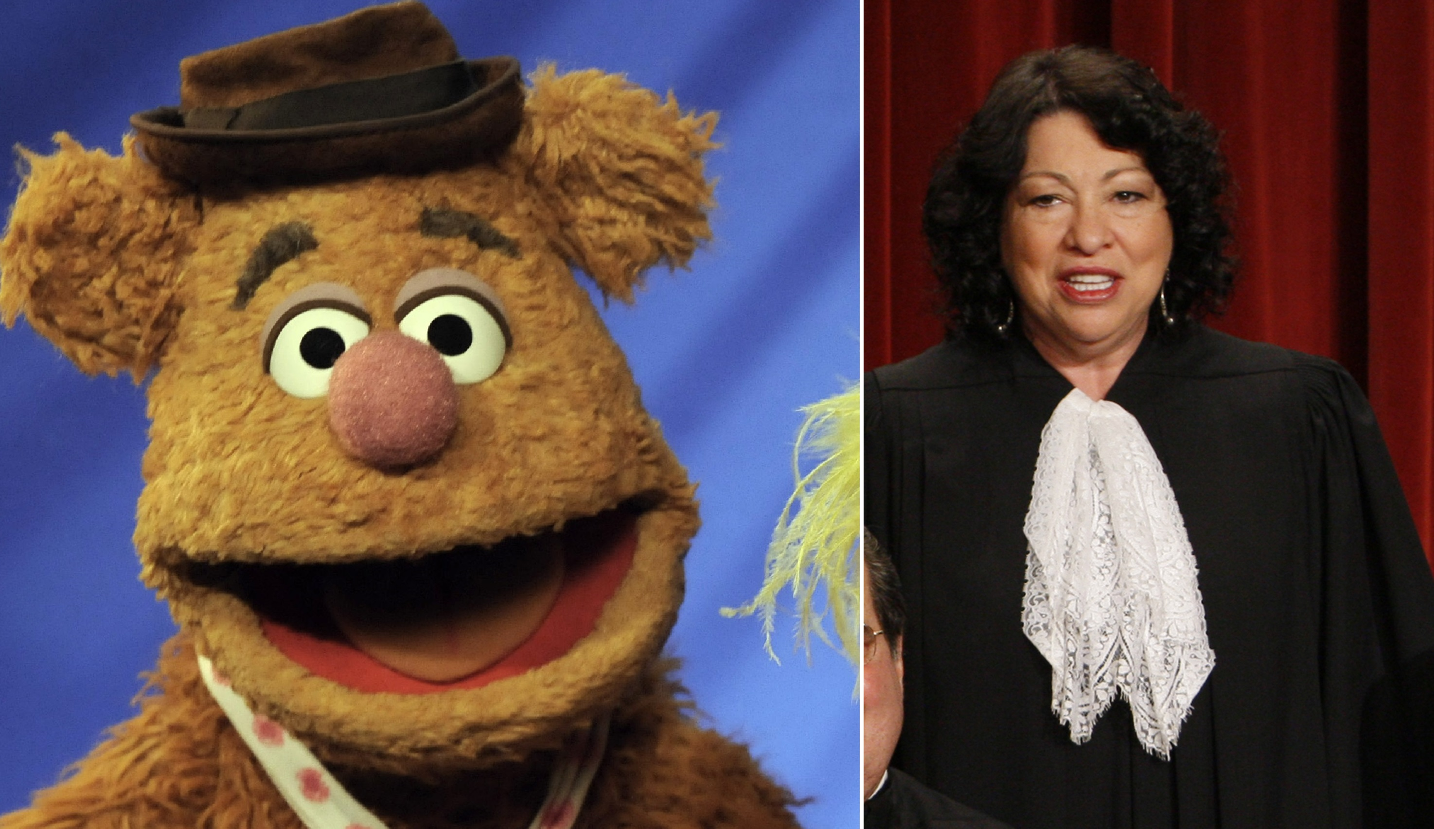 Lithwick says Sonia Sotomayor is Fozzie Bear. (Richard Drew/AP, Charles Dharapak/AP)