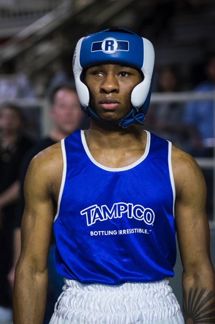 Kyron Brown has been boxing since he was 9. The 19-year-old fighter hopes to turn pro one day.