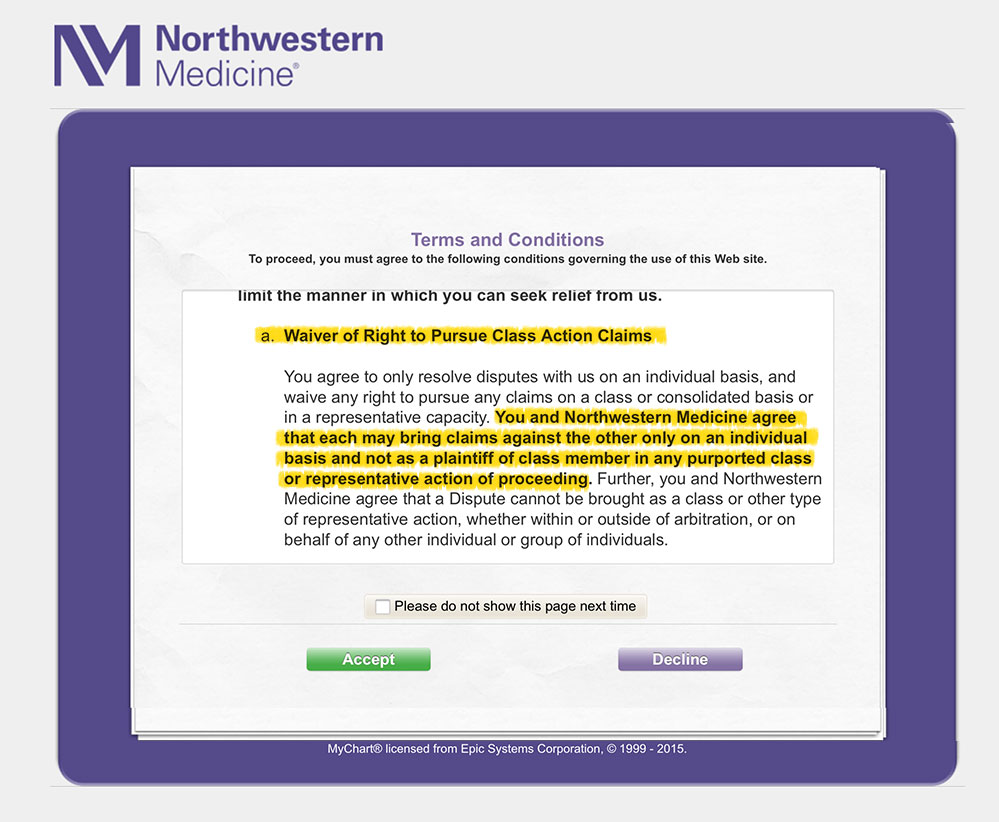 Northwestern Medicine MyChart Users: Your Legal Options Just