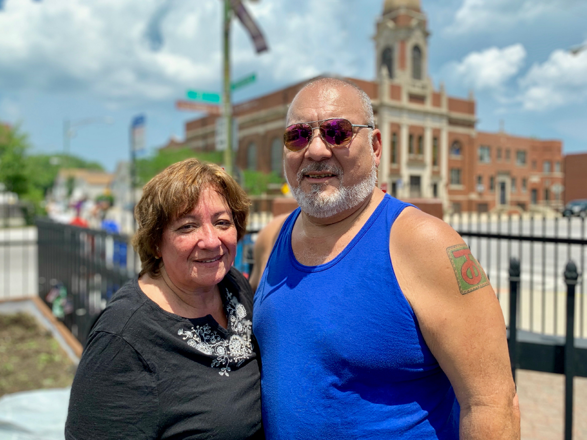 """It's a little forgotten part of the city,"" said 64-year-old Gilbert Ortiz, pictured here with his wife, Irma. He grew up in South Chicago but moved away 40 years ago."