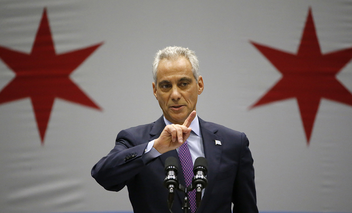 Chicago mayor Rahm Emanuel speaks at an event on Sept. 22, 2016. (AP Photo/Charles Rex Arbogast)