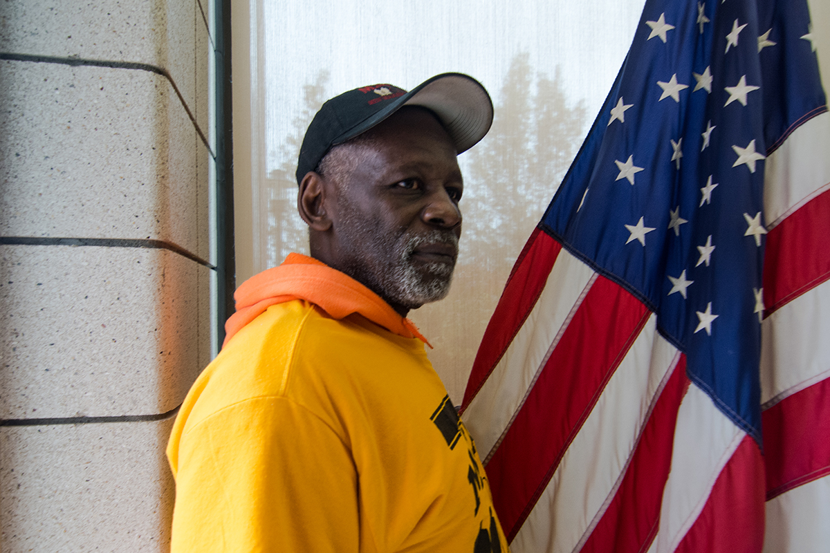 Robert 'Rock' Calhoun Sr., 64, served as a surrogate victim in one of the court's cases. Calhoun also runs Men Making A Difference (MMAD), an organization that aims to 'take back' the North Lawndale community through restorative justice principles. (Sebastián Hidalgo/City Bureau)