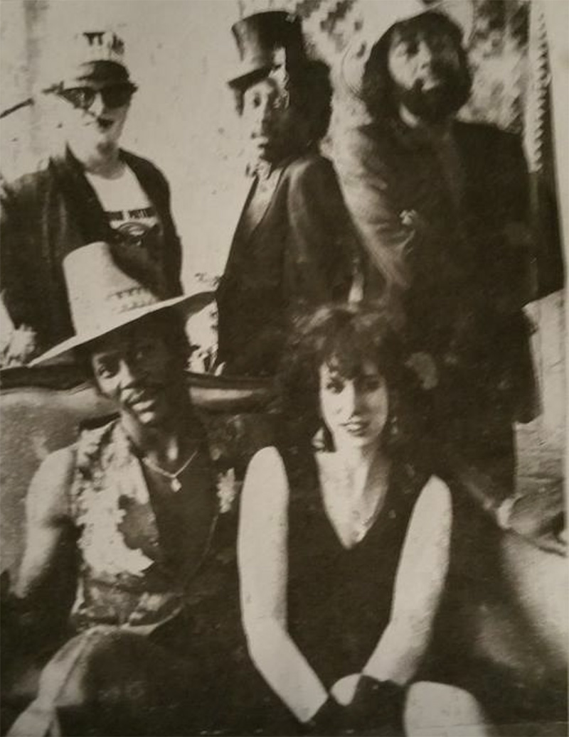 Joanna Connor (bottom right) and Dion Payton (bottom left) in the mid-80s.
