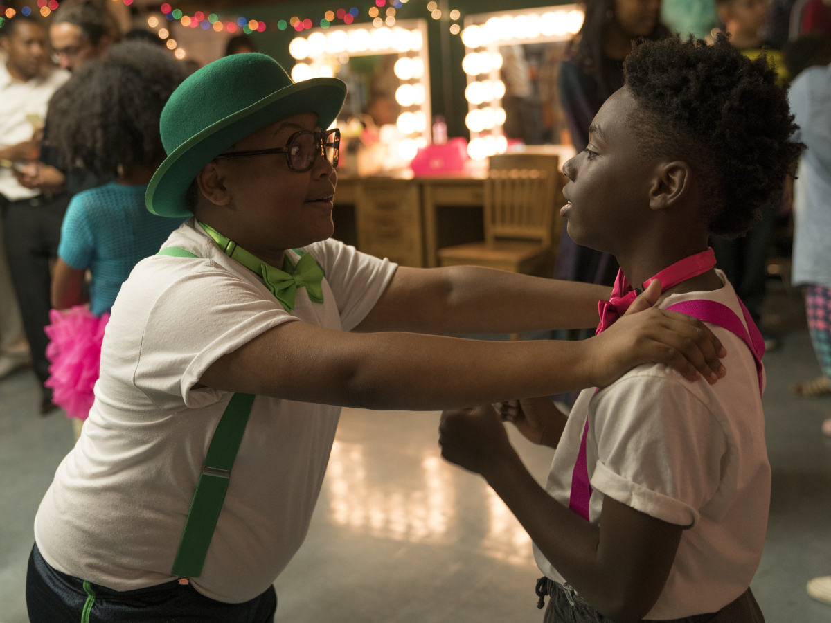 Shamon Brown as Papa and Alex Hibbert as Kevin. (Parrish Lewis/SHOWTIME)