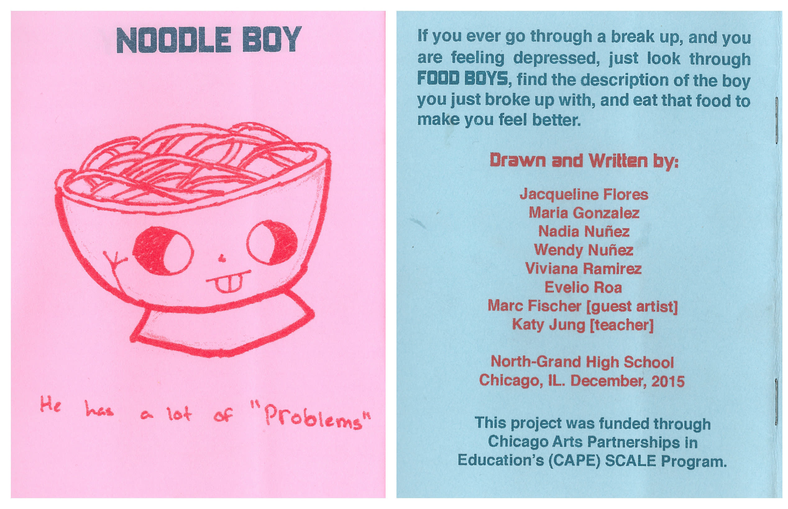 'Food Boys' advises eating noodles to get over a boy who has a lot of 'problems.'