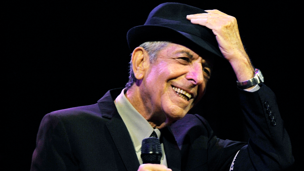 Leonard Cohen in April 2009 during a performance at the Coachella Valley Music & Arts Festival in Indio, Calif. (AP Photo/Chris Pizzello).