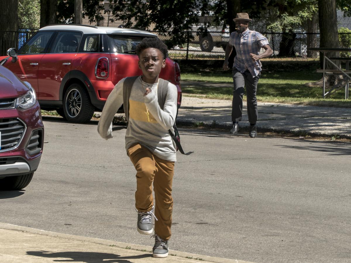 Alex Hibbert as Kevin and Ntare Guma Mbaho Mwine as Ronnie. (Matt Dinerstein/SHOWTIME)