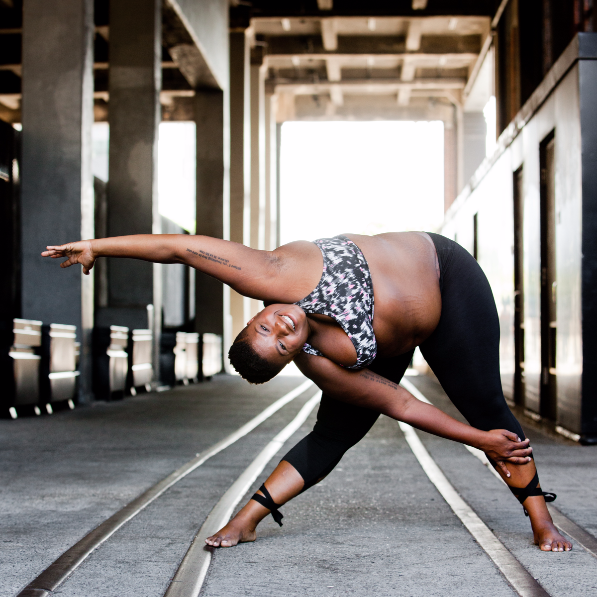 'Within the yoga world, there are very few depictions of anyone other than a cisgender, heterosexual, white, slender woman, and she always has a certain amount of money,' Stanley said. 'But all of that is just a product of marketing. That's not yoga.' (Photo by Christine Hewitt/Courtesy of Jessamyn Stanley)