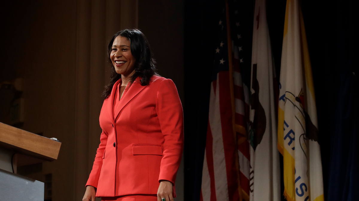 San Francisco Mayor London Breed smiles after her state of the city address in San Francisco, Wednesday, Jan. 30, 2019.
