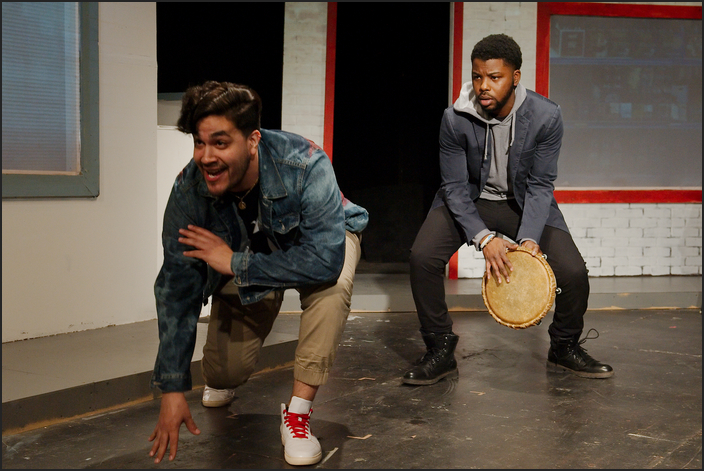 Andrew Neftali Perez as Ricky Gonzalez and Andre Truss as Devin Thompson — two activists trying to keep the Puerto Rican culture in Humboldt Park strong.