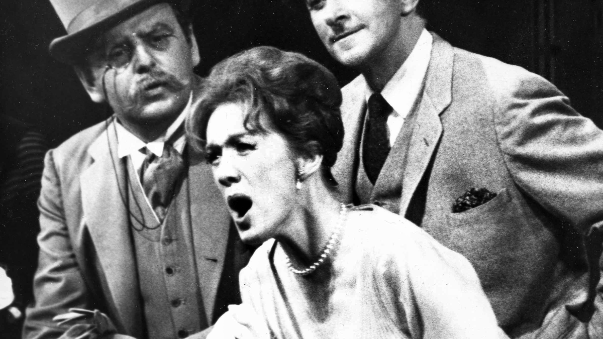 After a long time as a ghost singer, Marni Nixon is seen as well as heard in the New York City Center revival of My Fair Lady as she performs the role of Eliza Doolittle in June 1964. (AP Photo/File).