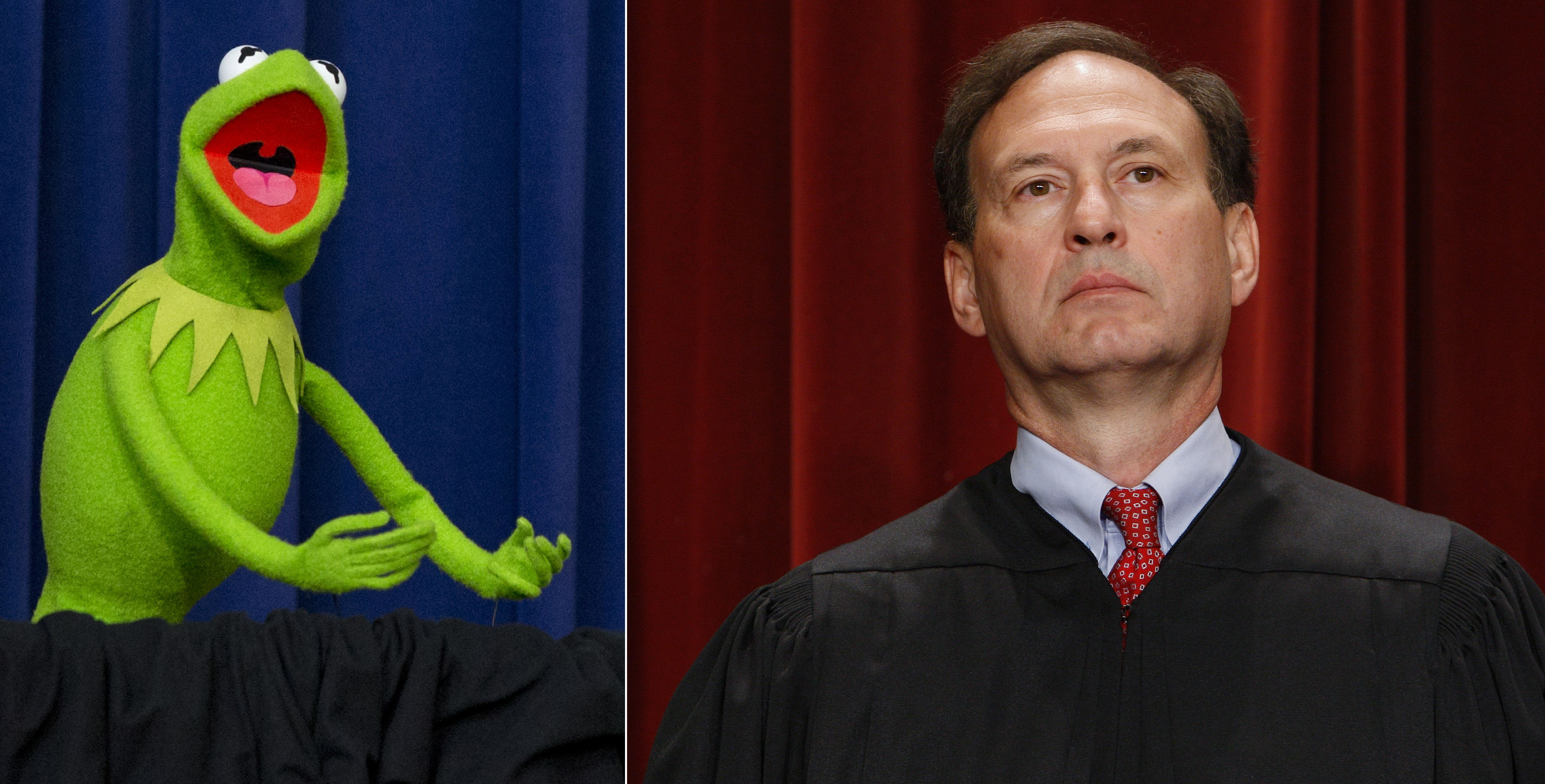 And finally, Lithwick says Samuel Alito is Kermit the Frog. (Jacquelyn Martin/AP, Charles Dharapak/AP)