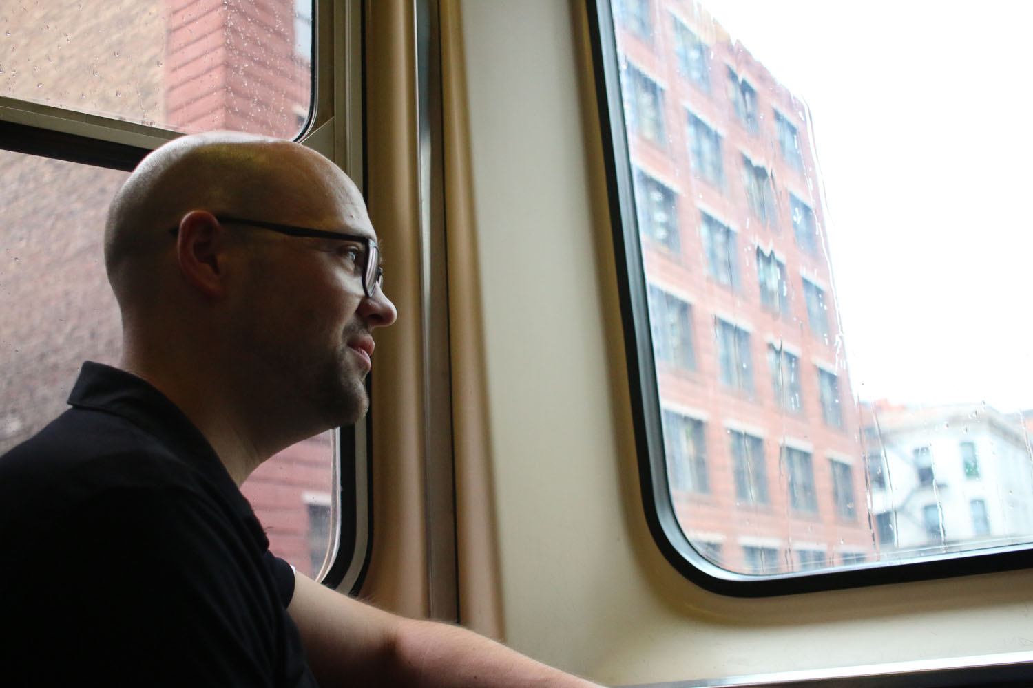 RC Jones sees his normal commute on the Brown Line with fresh eyes.