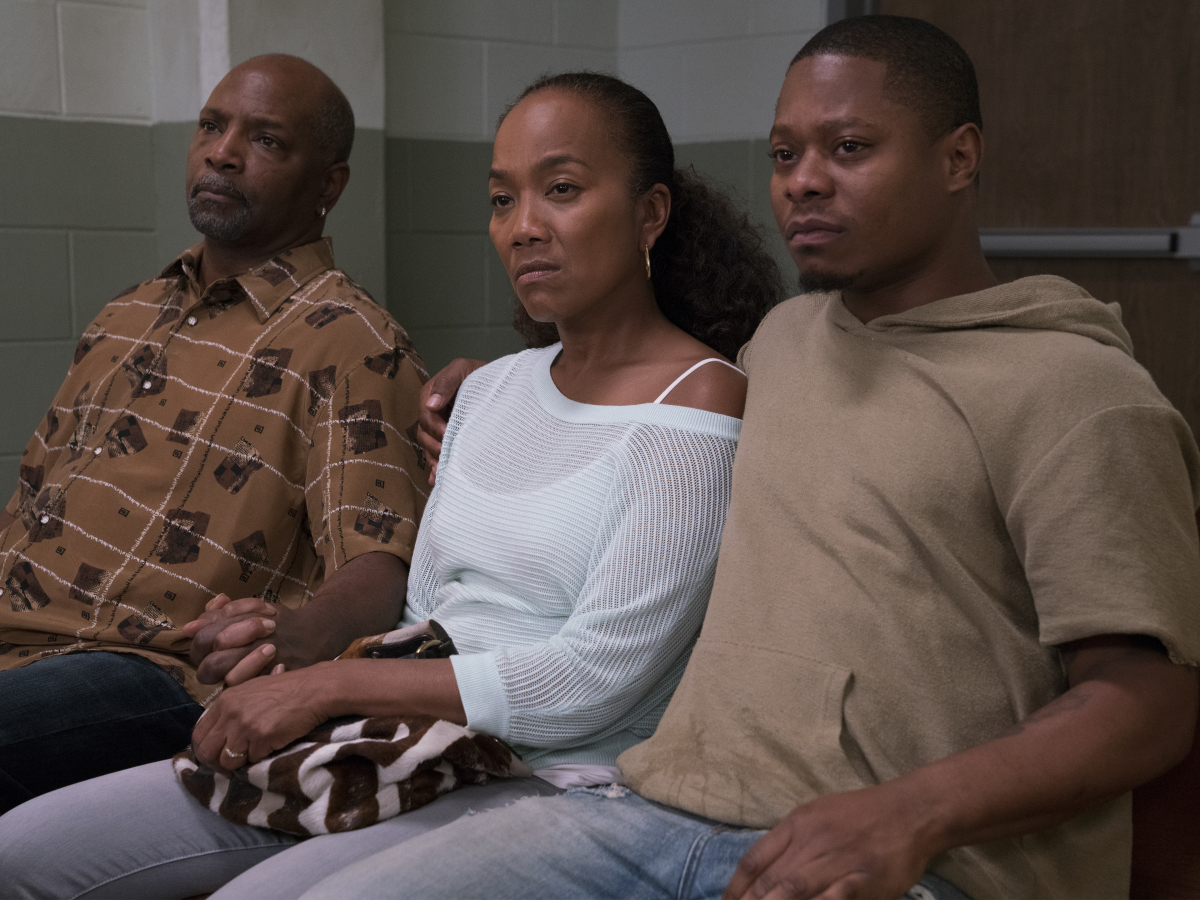 David Alan Anderson as Greavy, Sonja Sohn as Laverne, and Jason Mitchell as Brandon. (Parrish Lewis/SHOWTIME)
