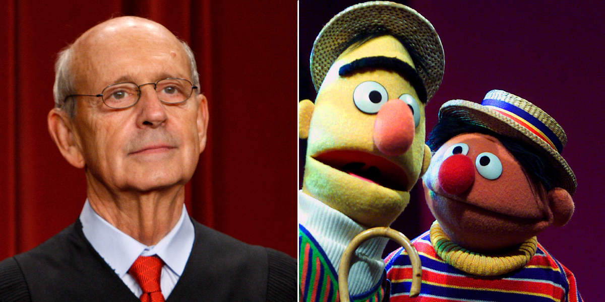 Stephen Breyer is Ernie, Lithwick says. (Charles Dharapak/AP, Beth A. Keiser/AP)