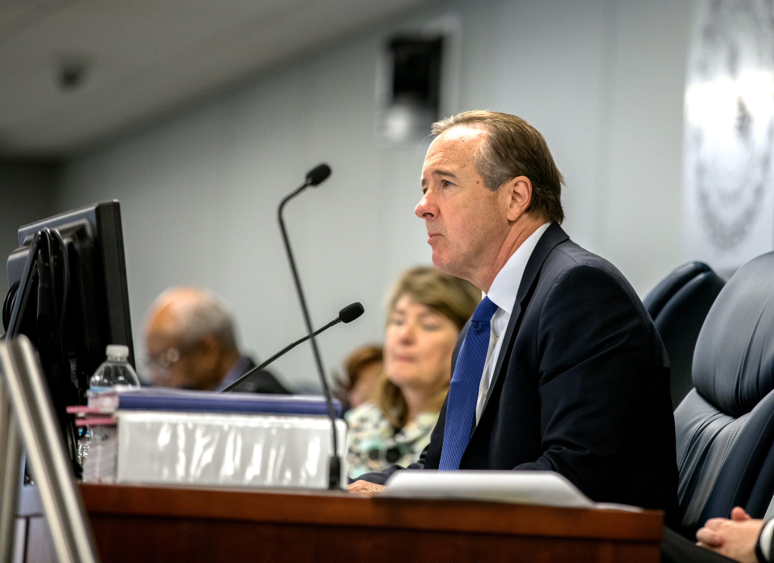 CPS CEO Forrest Claypool has defended the school system's overhaul of special education, saying the old system wasn't serving students well. (Andrew Gill/WBEZ)