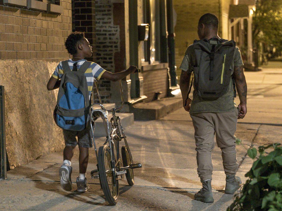 Alex Hibbert as Kevin and Jason Mitchell as Brandon. (Matt Dinerstein/SHOWTIME)