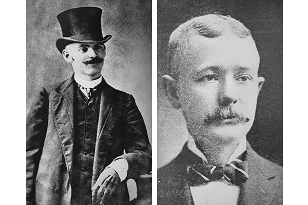 "As First Ward Aldermen, John ""Bathhouse"" John (left) and Michael ""Hinky Dink"" Kenna (right) were considered key influencers of local elections, especially mayoral ones. (Courtesy Tim Samuelson)"