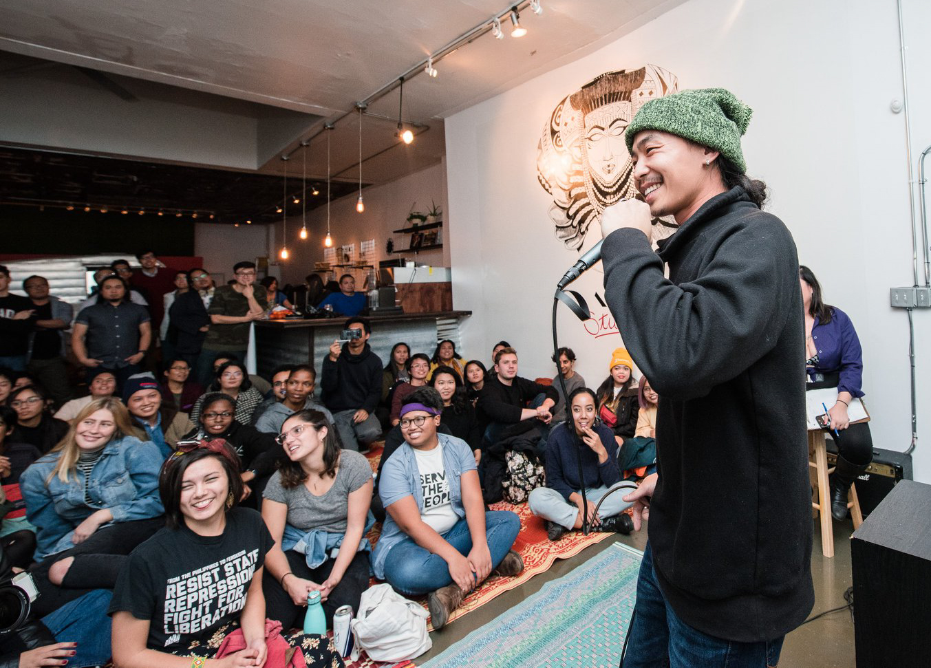 Organized by multidisciplinary artists from the Chicago Filipinx community, Luya is a monthly open mic series for artists of color and their friends. (Courtesy Kayla Delson)