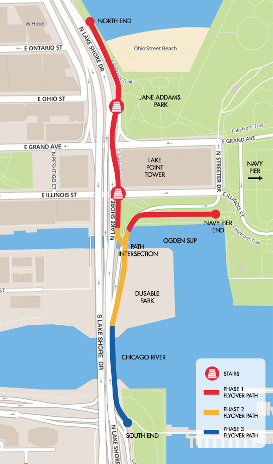 Project phase map accessed via navypierflyover.com (Courtesy of City of Chicago/Chicago Department of Transportation)