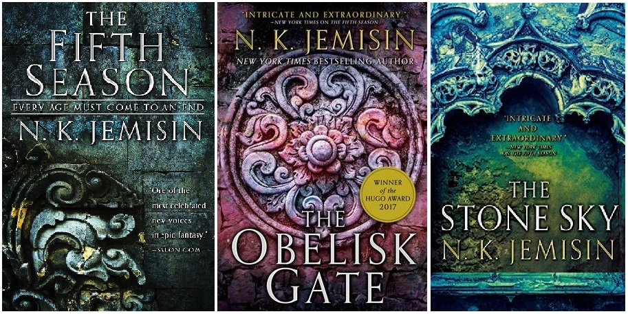 The 'Broken Earth' trilogy is the highly-praised sci-fi series by author N.K. Jemisin. (Images courtesy of Orbit Books)