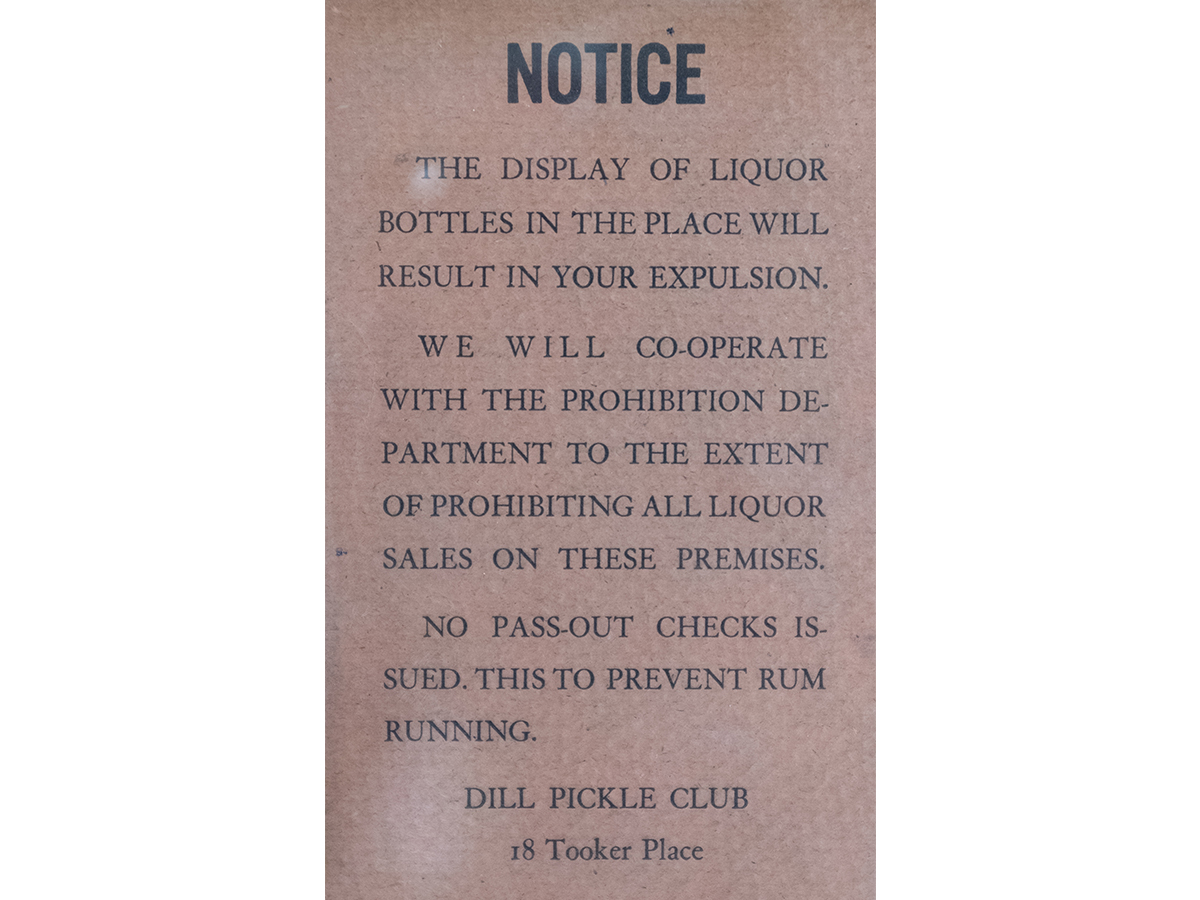 After Prohibition was enacted in 1920, organized crime and corrupt local officials allegedly pressured Dill Pickle owner Jack Jones into selling illegal booze. The mob's presence led to complaints from neighbors and increased police attention. (Courtesy Newberry Library)