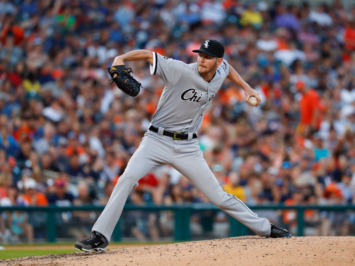 Former White Sox ace pitcher Chris Sale was traded to the Boston Red Sox before the 2017 MLB season. (AP Photo/Paul Sancya)