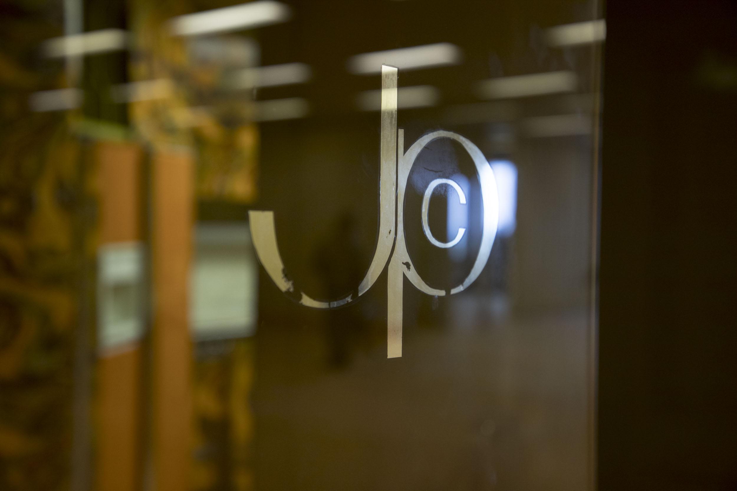 The original Johnson Publishing Company logo. (Andrew Gill/WBEZ)