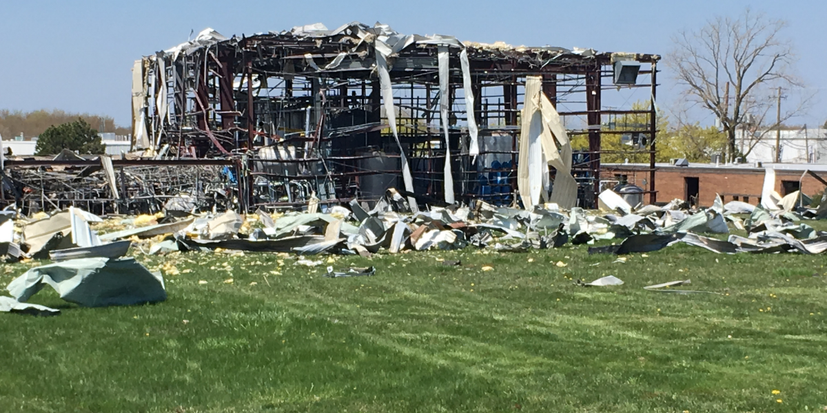 AB Specialty Silicones in Waukegan suffered massive damage in an explosion Friday night.
