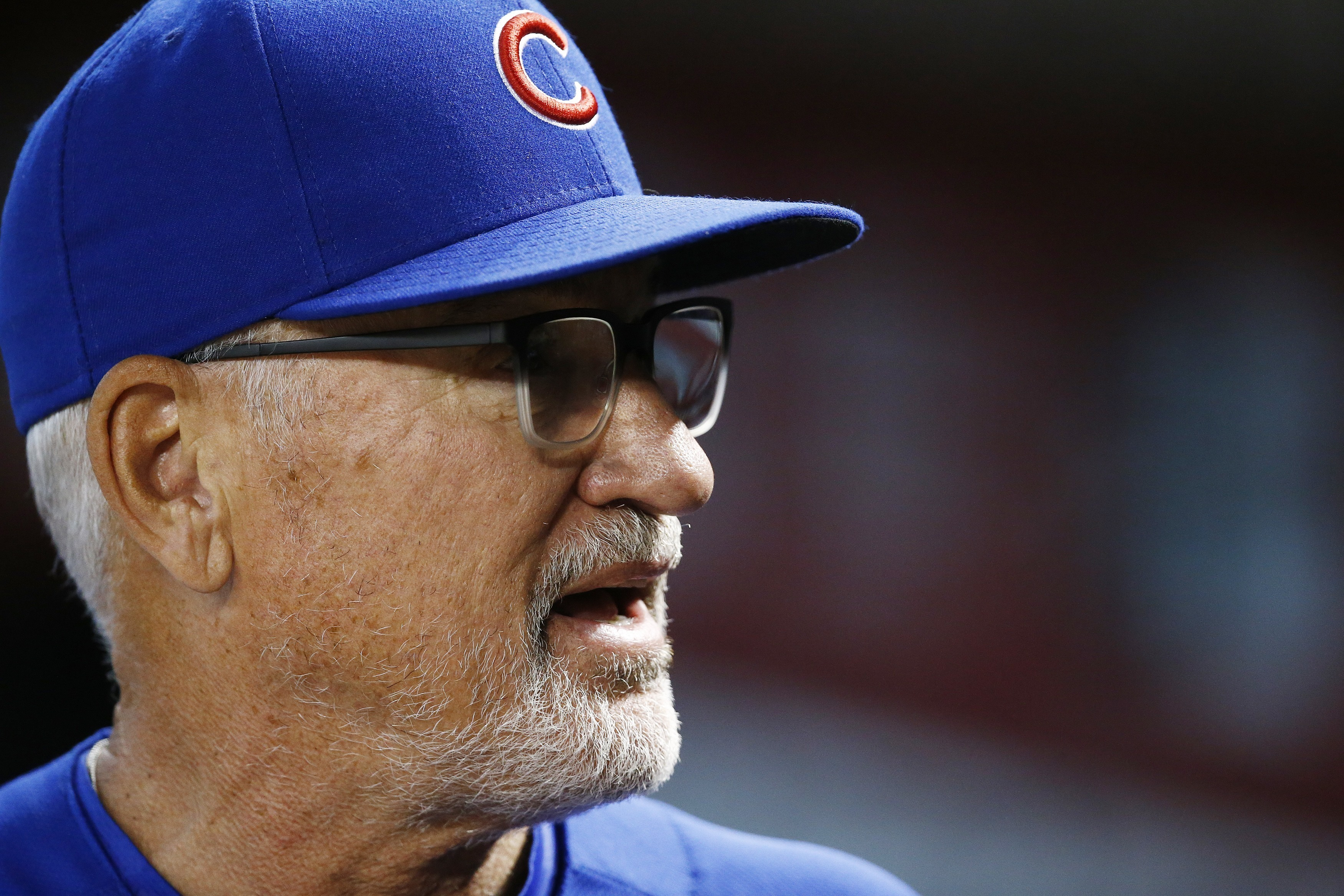 Cubs manager Joe Maddon on August 13, 2017.(AP Photo/Ross D. Franklin)