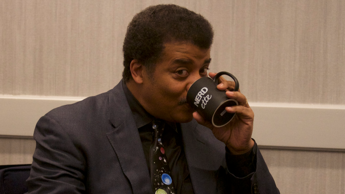 Astrophysicist Neil deGrasse Tyson says civilization faces problems that cannot be solved by a smartphone app. He says that means everybody needs your help. (Justin Bull/WBEZ)