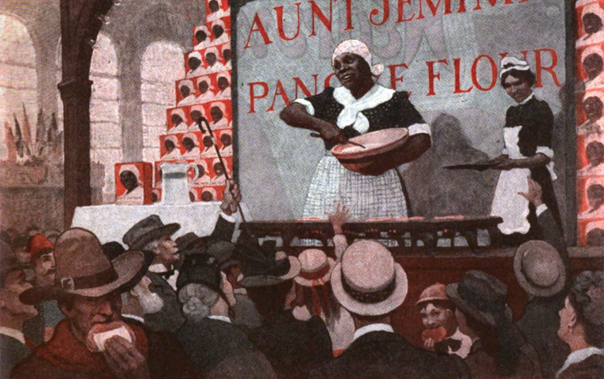 An illustration from a 1921 Saturday Evening Post article titled, 'At the World's Fair in '93 Aunt Jemima Was a Sensation' (Courtesy Saturday Evening Post)
